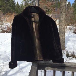 Vintage mouton fur coat